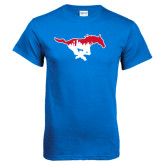 Royal T Shirt-Dallas Skyline Logo