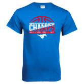 Royal T Shirt-2017 AAC Regular Season Champs - Mens Basketball Half Ball