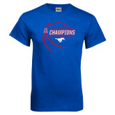 Royal T Shirt-2017 AAC Conference Champions - Mens Basketball Contour Lines