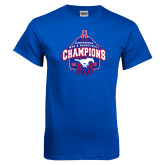 Royal T Shirt-2017 AAC Conference Champions - Mens Basketball Arched Net