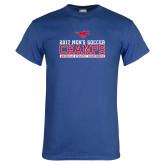 Royal T Shirt-2017 Mens Soccer Champs