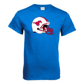 Royal T Shirt-SMU Football Helmet