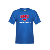 Youth Royal T Shirt-Track and Field