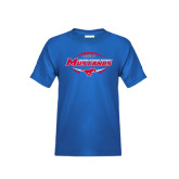 Youth Royal T Shirt-Mustangs in Football