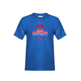 Youth Royal T Shirt-Tall Football Design