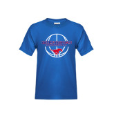 Youth Royal T Shirt-Mustang in Basketball