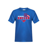 Youth Royal T Shirt-Soccer Swoosh
