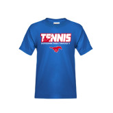 Youth Royal T Shirt-Tennis Design