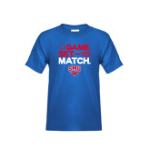 Youth Royal T Shirt-Game Set Match