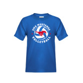 Youth Royal T Shirt-Mustang on Volleyball