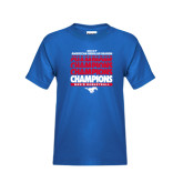 Youth Royal T Shirt-2017 AAC Regular Season Champions Repeating - Mens Basketball