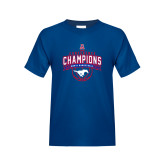 Youth Royal T Shirt-2017 AAC Conference Champions - Mens Basketball Arched Banner