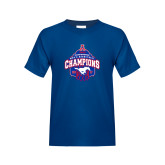 Youth Royal T Shirt-2017 AAC Conference Champions - Mens Basketball Arched Net