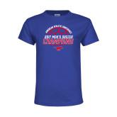 Youth Royal T Shirt-2017 Mens Soccer Champions