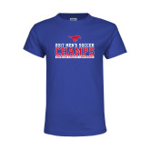 Youth Royal T Shirt-2017 Mens Soccer Champs