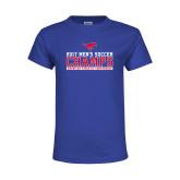 Youth Royal T Shirt-2017 Mens Soccer Champs