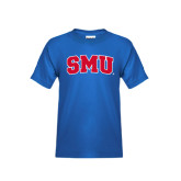 Youth Royal T Shirt-Block SMU