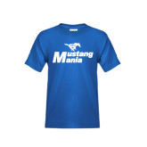 Youth Royal T Shirt-Mustang Mania