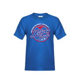 Youth Royal T Shirt-Mustang Pride