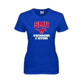 Ladies Royal T Shirt-Swimming and Diving