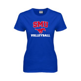Ladies Royal T Shirt-Volleyball