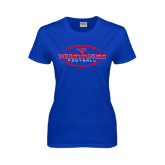 Ladies Royal T Shirt-Athletic Mustangs in Football