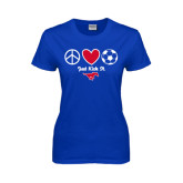 Ladies Royal T Shirt-Just Kick It