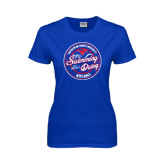 Ladies Royal T Shirt-Swim and Dive Design
