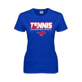 Ladies Royal T Shirt-Tennis Design