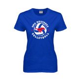 Ladies Royal T Shirt-Mustang on Volleyball