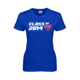 Ladies Royal T Shirt-SMU Class of Design
