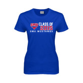 Ladies Royal T Shirt-SMU Mustangs Class of Design