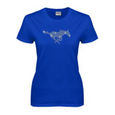 Ladies Royal T Shirt-Rhinestone Pony