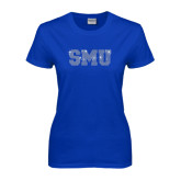 Ladies Royal T Shirt-Rhinestone SMU