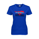 Ladies Royal T Shirt-#PonyUpTempo Lock Arms