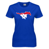 Ladies Royal T Shirt-Dallas Skyline Logo