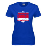 Ladies Royal T Shirt-2017 AAC Regular Season Champions Repeating - Mens Basketball