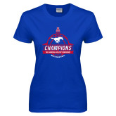 Ladies Royal T Shirt-2017 AAC Conference Champions - Mens Basketball Banners