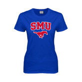Ladies Royal T Shirt-SMU w/Mustang