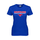 Ladies Royal T Shirt-Stacked Mustangs w/ Pony