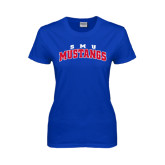 Ladies Royal T Shirt-Arched SMU Mustangs