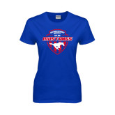 Ladies Royal T Shirt-Mustangs in Shield