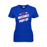 Ladies Royal T Shirt-Mustangs Pony Up