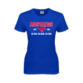 Ladies Royal T Shirt-Stacked Mustangs Design