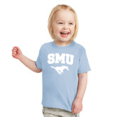 Toddler Light Blue T Shirt-SMU w/Mustang