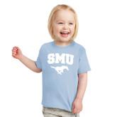 Toddler Light Blue T Shirt-SMU w/Mustang