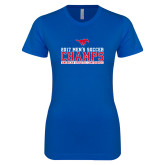 Next Level Ladies SoftStyle Junior Fitted Royal Tee-2017 Mens Soccer Champs