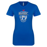 Next Level Ladies SoftStyle Junior Fitted Royal Tee-2017 Frisco Bowl - Football