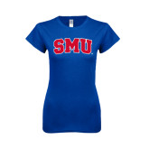 Next Level Ladies SoftStyle Junior Fitted Royal Tee-Block SMU