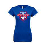 Next Level Ladies SoftStyle Junior Fitted Royal Tee-Mustangs in Shield